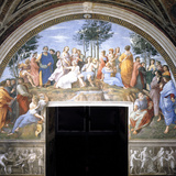 The Parnassus, 1509-1511 Reproduction photographique par  Raphael