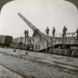 16 Inch Railway Gun Which Pulverised the Hindenburg Line, World War I, France, 1917-1918 Photographic Print