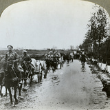 Artillery Making their Way Through Mud to Gommecourt, France, World War I, C1914-C1918 Photographic Print