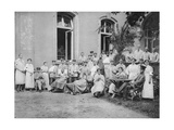 German Nurses and Patients, Frankfurt Am Main, Germany, World War I, 1915 Giclee Print