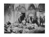 French and German Wounded in a Chateau in France, World War I, 1915 Giclee Print
