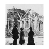 Damage to the Church of Notre Dame, Armentières, France, World War I, C1914-C1918 Giclee Print by  Nightingale & Co
