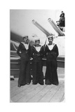 Ted and Pals, Three Royal Navy Sailors on Board a Warship, C1920s-C193s Giclee Print