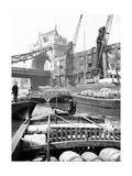 Lighters Approaching the General Steam Navigation Company's Wharf by Tower Bridge, London, C1905 Photographic Print