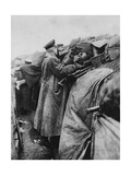 German Soldiers in a Trench, World War I, 1915 Giclee Print