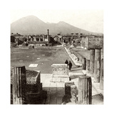 The Forum of Pompeii, Italy, 1894 Giclee Print