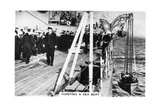 Hoisting a Sea Boat, HMS 'Nelson, 1937 Giclee Print