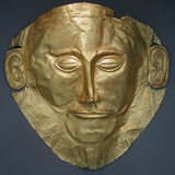 The Mask of Agamemnon, 16th-15th C Bc Photographic Print
