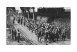 Captured French Soldiers, the Somme, France, World War I, 1917 Giclee Print