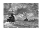 British Warships Entering Sydney Harbour, Australia, 1945 Giclee Print