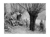 German Field Telephone Station, Aisne, France, World War I, 1915 Giclee Print