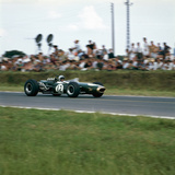 Jack Brabham Racing a Brabham-Repco Bt19, French Grand Prix, Reims, France, 1966 Photographic Print
