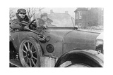 Volunteer Women Drivers in a Wolseley, Donated Towards the War Effort, Cambridge, World War I, 1915 Giclee Print