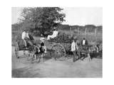 Wood Carts, Jamaica, C1905 Giclee Print by Adolphe & Son Duperly