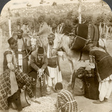 Experts Purchasing Silk Cocoons, for Export to France, Antioch, Syria, 1900s Photographic Print