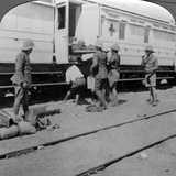 Lifting Wounded Soldiers onto a Hospital Train, East Africa, World War I, 1914-1918 Photographic Print