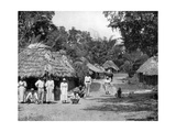 Native Huts, Jamaica, C1905 Giclee Print by Adolphe & Son Duperly