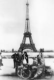 German Soldiers in Front of the Eiffel Tower, Paris, 1940 Photographic Print