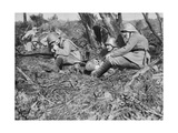 German Field Telephonist, Somme, France, World War I, 1916 Giclee Print