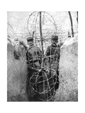 Barbed Wire Surrounding a French Trench, World War I, 1915 Giclee Print