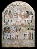 Stone Stele with a Relief, Ancient Egyptian, 156 Bc Fotodruck