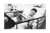 Greek Boy from Pylos Being Nursed in the Sick Bay of the British Battleship HMS Malaya, 1938 Giclee Print