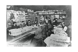 Folding Machine Room, Printing Works of the L'Action Francaise Newspaper, Paris, 1917 Giclee Print