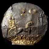A Round Medallion Plate Describing Cybele, 2th Century BC Reprodukcja zdjęcia