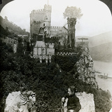 Castle Rheinstein, Near Bingen, Germany Photographic Print by  Underwood & Underwood