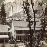 Sentinel Hotel, Looking North across the Valley to Yosemite Falls, California, USA, 1902 Photographic Print by  Underwood & Underwood