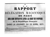 Rapport De La Delagation Maconnique, from French Political Posters of the Paris Commune Giclee Print