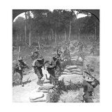 First Line Gurkhas Storming and Capturing a German Trench, World War I, 1914-1918 Giclee Print by  Crown