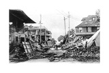 Earthquake Damage, King Street and Harbour Street, Kingston, Jamaica, 1907 Giclee Print
