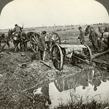 Removing a Field Gun from a Flooded Position, World War I, 1914-1918 Photographic Print