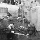 Bathing and Burning the Hindu Dead, Benares (Varanas), India 1903 Photographic Print