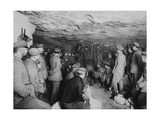 German Soldiers at a Concert in a Cave, France, World War I, 1915 Giclee Print