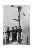 Signalling by Semaphore on Board HMS Camperdown, 1895 Giclee Print by  Gregory & Co