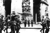 German Troops Marching Past the Arc De Triomphe, Paris, 14 June 1940 Photographic Print