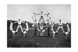 Display by the Aldershot Gymnastic Staff, Hampshire, 1896 Giclee Print by  Gregory & Co