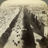 Champs Elysees from the Arc De Triomphe, Paris, France, 19th Century Photographic Print