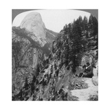 View from Glacier Canyon to Half Dome, Yosemite Valley, California, USA, 1902 Giclee Print by  Underwood & Underwood
