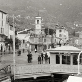 View of Moltrasio on the Shore of Lake Como, Italy, 20th Century Photographic Print