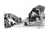 Earthquake Damage, Duke Street, Kingston, Jamaica, 1907 Giclee Print