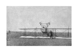 Biplane Crashed in a Field, World War I, France, 1915 Giclee Print