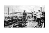 A Fire Damaged Prison Camp in Germany, World War I, 1915 Giclee Print
