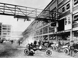 The Exterior of the Model T Factory, 1914 Fotodruck