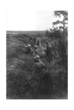 French Infantry Position in a Sunken Lane, North of Villers-Cotterets, Aisne, France, 1918 Giclee Print