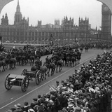 Artillery in the Great March of the Empire's Forces, Westminster Bridge, London, 1919 Photographic Print