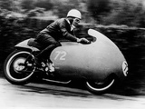 Possibly Bill Lomas, on a Moto Guzzi V8, 1957 Photographic Print