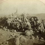 Gordon Highland Signallers on Signal Hill, Euslin, South Africa, Boer War, 1899-1902 Photographic Print by  Underwood & Underwood